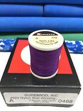 Gudebrod Fishing Rod Winding thread Nylon Size A, Purple 0468. 1 Spool o.