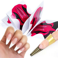 Sticker Acrylic UV Gel Nail Forms DIY Tips French Manicure  Extension Tools