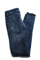 DL1961 Womens Ryan High Rise Skinny Distressed Jeans Blue Size 24