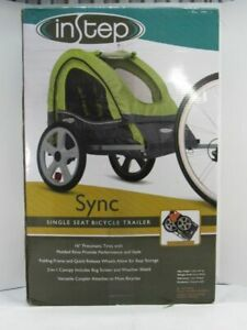 NEW INSTEP SYNC SINGLE SEAT BICYCLE TRAILER