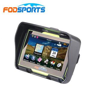 4.3 inch Bluetooth Motorcycle GPS Navigation Waterproof Car Bike Sat Nav Green