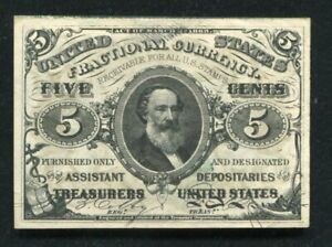 FR. 1238 5 FIVE CENTS THIRD ISSUE FRACTIONAL CURRENCY NOTE GEM UNCIRCULATED
