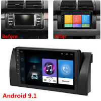 Android 9.1 Car Stereo Radio GPS Navigation 2GB+32GB For BMW E39 E53 X5 + Canbus