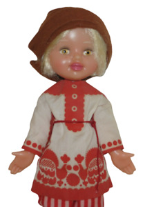 """Vintage Russian Soviet Boy Doll 14"""" Traditional Folk Outfit"""