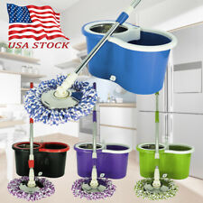 Magical Floor Mop Rotating 360° Easy Cleaning with 2 Spinning Heads USA Seller
