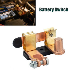 Brass Battery Disconnect Switch for Top Post Terminal 12v Battery Kill Switch