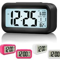 Battery Operated LCD Display Digital Smart Alarm Clock Snooze Blight Temperature