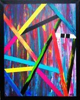 Tableau abstrait contemporain 40 x 50 cm. Original signé A.G.