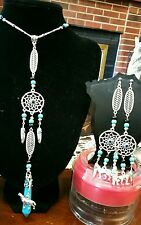 Handcrafted  Native American Inspired Magical Dreamcatcher Necklace & Earrings