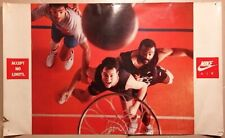 VTG 80s 90s NIKE AIR ACCEPT NO LIMITS Poster Ad Advertisement Force Basketball