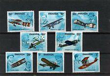 RWANDA 1978 Sc#885-892 AVIATION SET OF 8 STAMPS MNH