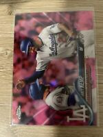 2018 Topps Chrome Update Pink Refractor HMT41 Matt Kemp Los Angeles Dodgers Mint