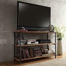 """Vintage Industrial TV Stand Console Entertainment Center Table Rustic Metal 50"""""""