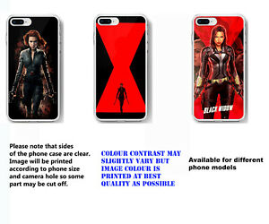 Black Widow phone case soft silicone mobile case cover for iPhone Samsung Huawei