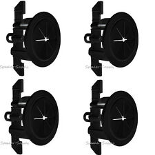 "4 Pack Set Midlite Speedport 2"" Cable Pass Thru Wall Anchor Black MID2024Bx4"