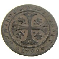 1796 Switzerland Moneta Reipublicae Bernensis 1/2 Half Batzen Coin P978
