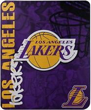 "Lakers Officially Licensed NBA ""Hard Knocks"" Printed Fleece Throw Blanket Kobe"