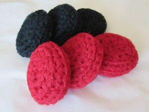 Crocheted Scrubbies, Nylon Pot Scrubbers, Dish Scrubby, Lot of 6 Handmade