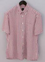 Men Hugo Boss Casual ShirtShort Sleeves Cotton L XMS758