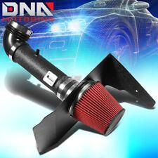 FOR 10-11 3.6L V6 CHEVROLET CAMARO BLACK WRINKLE FINISH AIR INTAKE+HEAT SHIELD