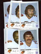 1978 CFL Football BC Lions Royal Bank Complete Set of 12 NRMT