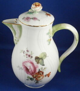 Antique 18thC KPM Berlin Porcelain Small Coffee Pot Porzellan Kanne Tea Kaffee