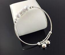 Handmade Bracciale in argento solido tono con galleggiante CAMPANE Fashion Design Trend