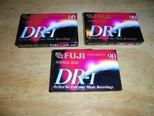 3 Fuji Blank Cassette 90 Min DR-I Audio Tapes Extra-Slim Case New Factory Sealed