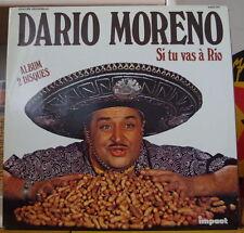 DARIO MORENO SI TU VAS A RIO DOUBLE ALBUM  FRENCH LP IMPACT