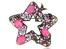 Fashion Jewelry Pin Brooch Gifts Holiday Rose Diamante Rhinestone Star Flower