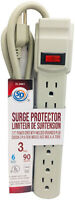 SD Power Bar With Surge Protection 6-Outlet/Surge Protector 3ft