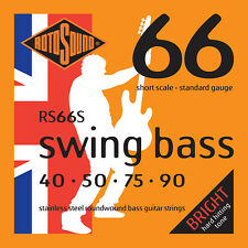 ROTOSOUND RS66S SWING STEEL BASS STRINGS, SHORT SCALE - STANDARD 4's -40-90