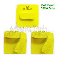 3Pk Redi Lock Quick Change Dbl Segs Grinding Disc Plate - 30/40 Grit Soft Bond
