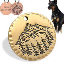 High Quality Dog Tags for Dogs Personalized Brass Disc Free Engraving Service