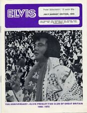 Elvis Presley Fan Club Magazine July/August 1973 AB