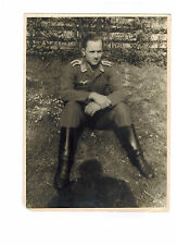 Original BW Photograph Germany Wehrmacht Army Soldier Outdoors WW 2