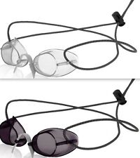 2 Pack - Swedish Swim Goggles- Antifog  Color SMOKE and CLEAR -Bungee Strap