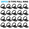 20pcs Black D Shape Tie Down Anchors Ring for Car Truck Trailers RV Boats pro