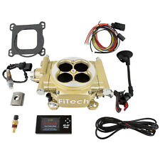 FiTech 30005 Easy Street EFI 600HP Electronic Fuel Injection EFI System Kit Gold