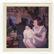 1961 Color Photo - Woman Holding Baby - Easter