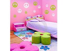 32 PEACE SIGNS & NAME Wall Decals Stickers Room Decor