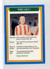 (Jm905-100) RARE,Q.O.S Who Am I ,Stanley Matthews ,Soccer 1994 MINT