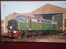 POSTCARD CLASS 40 DIESEL LOCO NO D284 AT LEEDS NEVILLE HILL DEPOT 1961