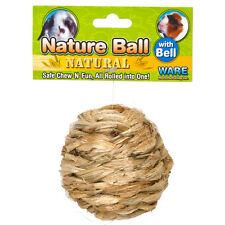 WARE ALL NATURAL NATURE BALL WITH BELL SMALL ANIMAL TOY. FREE SHIPPING IN USA