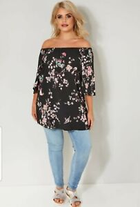 Yours Clothing Gypsy Bardot top, Size 34/36 , New