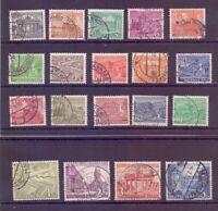 Berlin 1949 - Berliner Bauten - MiNr.42/60 rund gestempelt- Michel 50,00 € (960)