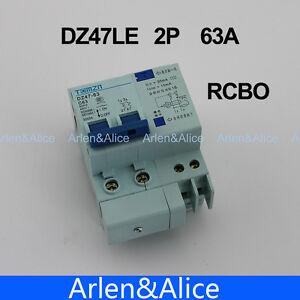DZ47LE 2P 63A 230V~ 50HZ/60HZ Residual current Circuit breaker  RCBO
