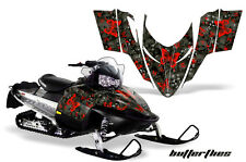 AMR Racing Sled Wrap Polaris Switchback Snowmobile Graphics Kit 06-10 BFLY RED