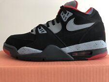 Nike, Air Flight 89, Black/Grey/Red, Mens, New, Size (Left UK 8, Right UK 8.5)