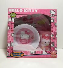 ZAK! Hello Kitty Plate, Bowl and Tumbler Cup MealTime Set 3PC BPA Free